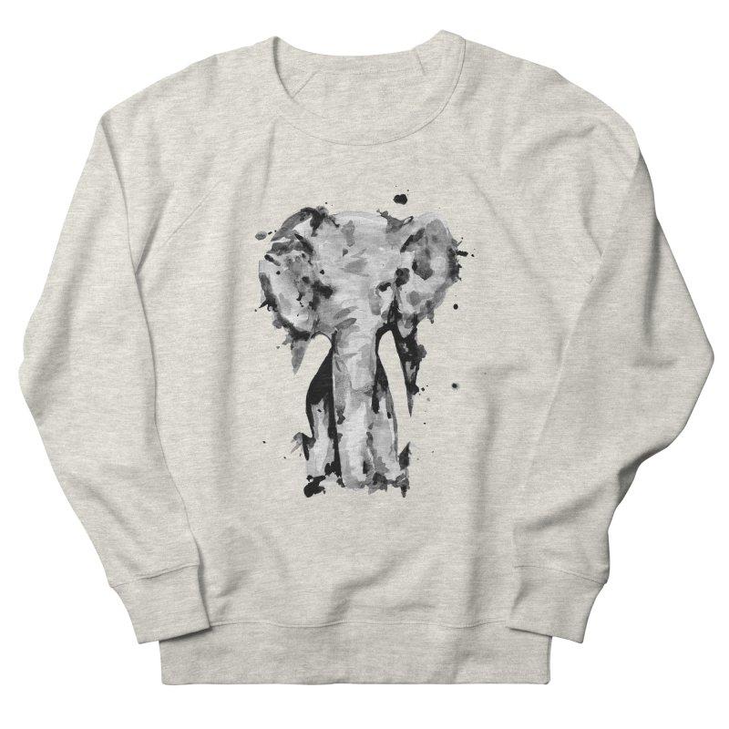 Elephant Men's French Terry Sweatshirt by jojostudio's Artist Shop