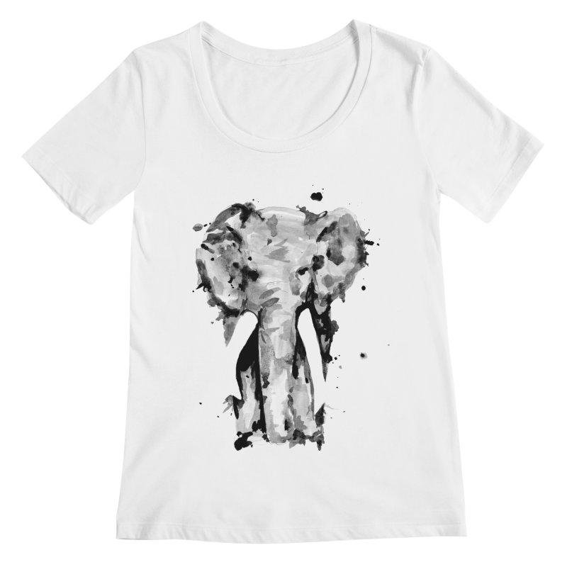 Elephant Women's Scoopneck by jojostudio's Artist Shop