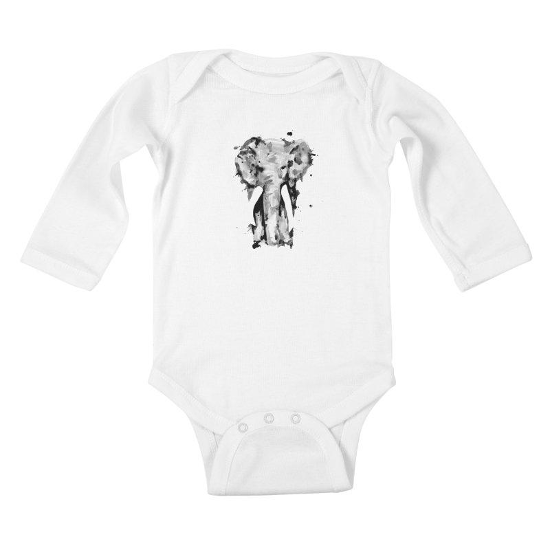 Elephant Kids Baby Longsleeve Bodysuit by jojostudio's Artist Shop