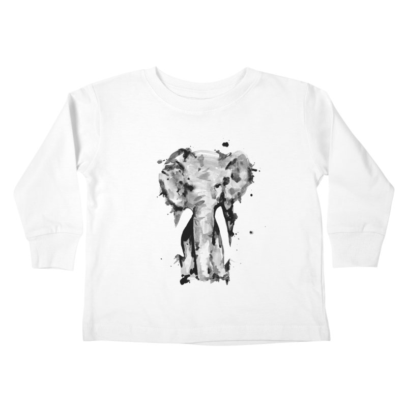 Elephant Kids Toddler Longsleeve T-Shirt by jojostudio's Artist Shop