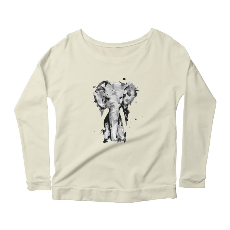 Elephant Women's Longsleeve Scoopneck  by jojostudio's Artist Shop
