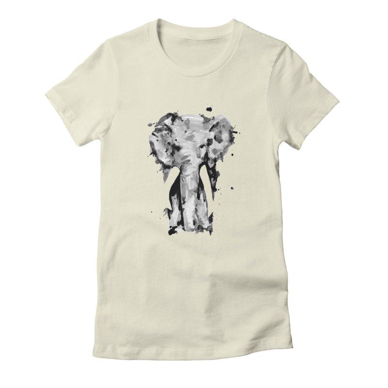 Elephant Women's Fitted T-Shirt by jojostudio's Artist Shop