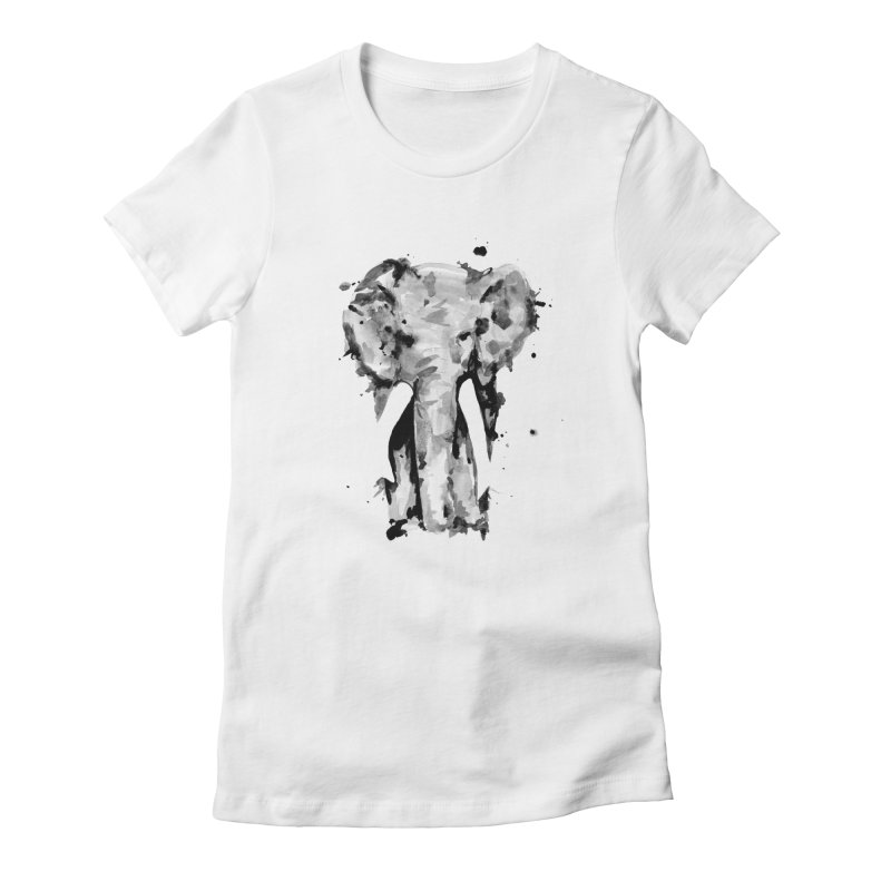 Elephant Women's Fitted T-Shirt by jojostudio's Artist Shop