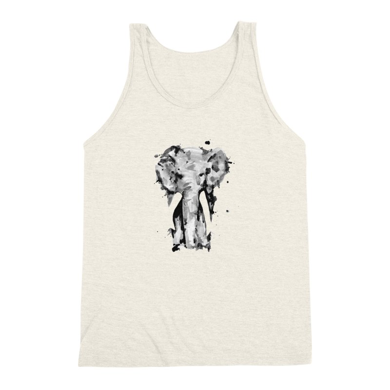Elephant Men's Triblend Tank by jojostudio's Artist Shop