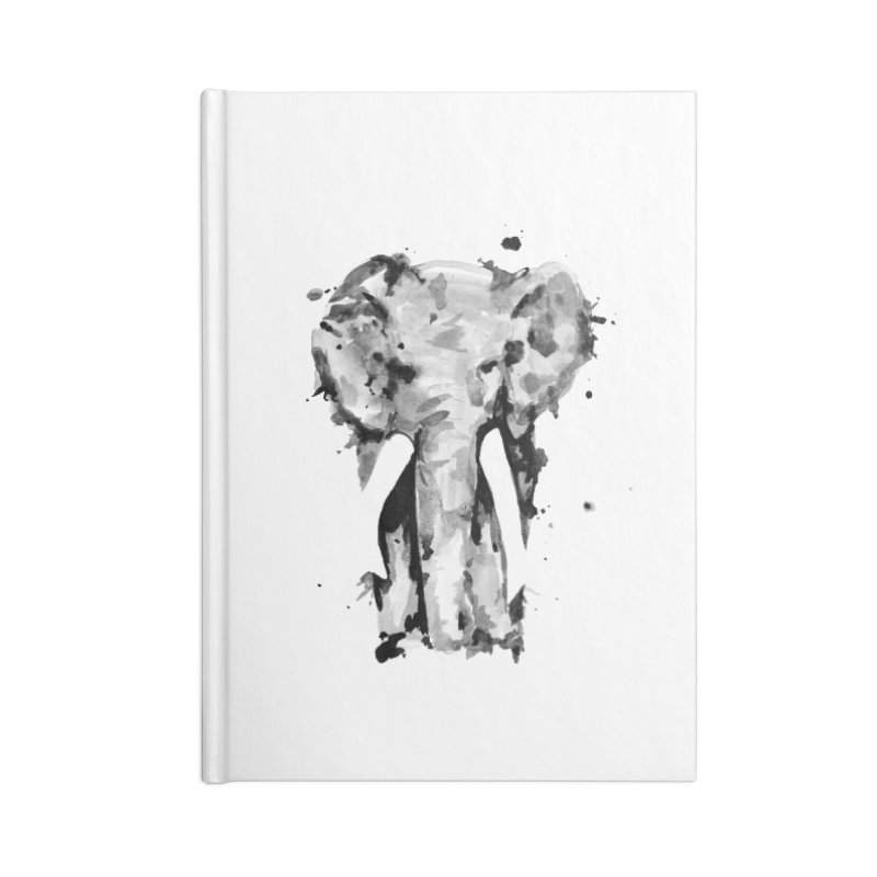 Elephant Accessories Blank Journal Notebook by jojostudio's Artist Shop