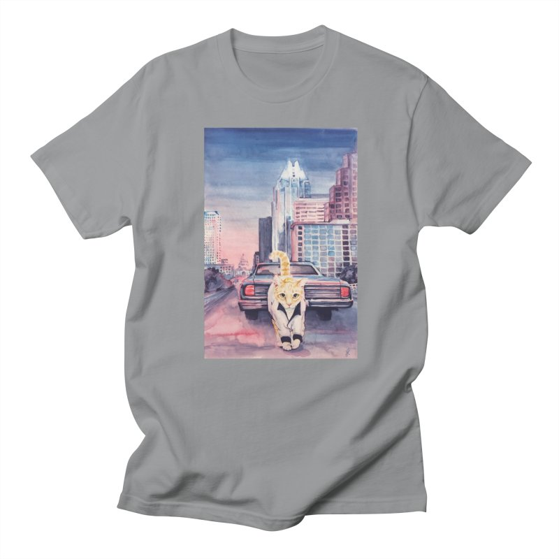 DRIVE (kitty) Men's Regular T-Shirt by jojostudio's Artist Shop