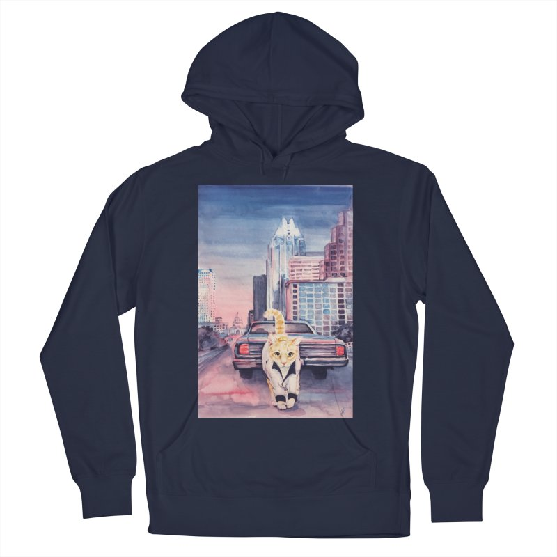 DRIVE (kitty) Men's French Terry Pullover Hoody by jojostudio's Artist Shop