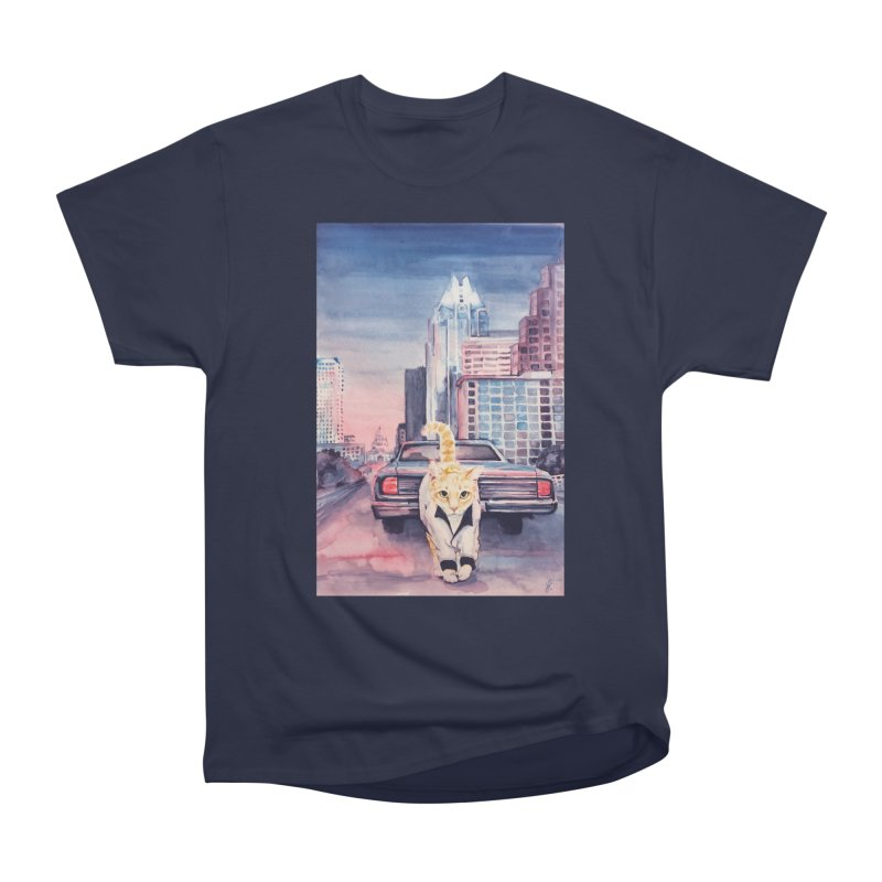 DRIVE (kitty) Men's Heavyweight T-Shirt by jojostudio's Artist Shop
