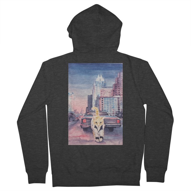 DRIVE (kitty) Women's Zip-Up Hoody by jojostudio's Artist Shop