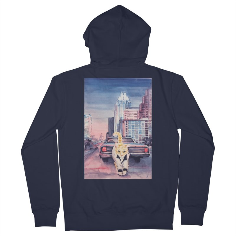 DRIVE (kitty) Men's Zip-Up Hoody by jojostudio's Artist Shop