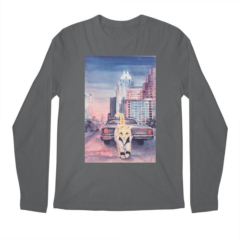 DRIVE (kitty) Men's Regular Longsleeve T-Shirt by jojostudio's Artist Shop