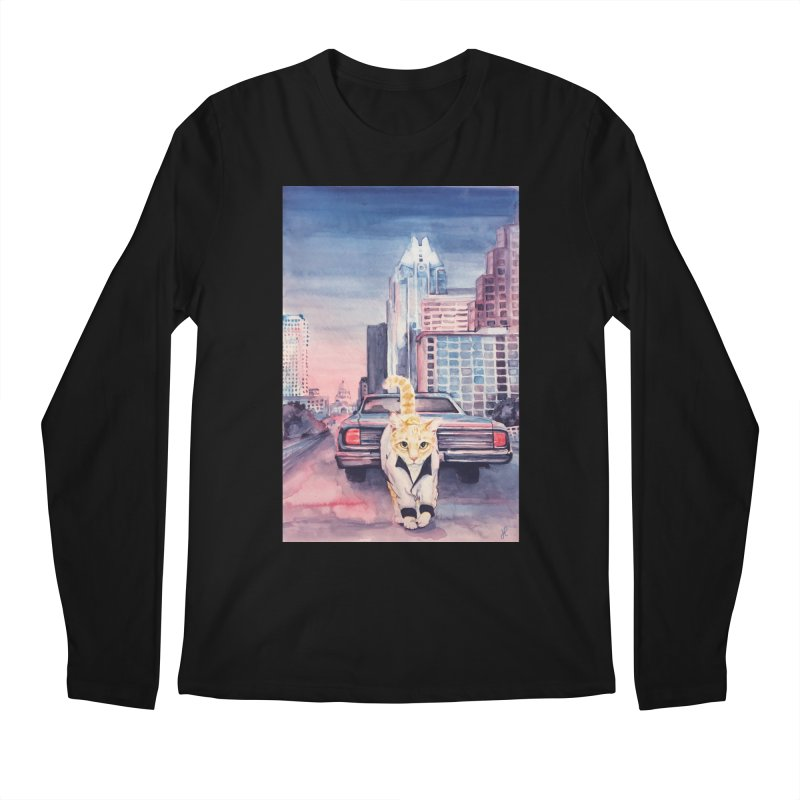 DRIVE (kitty) Men's Regular Longsleeve T-Shirt by jojostudio's Artist Shop