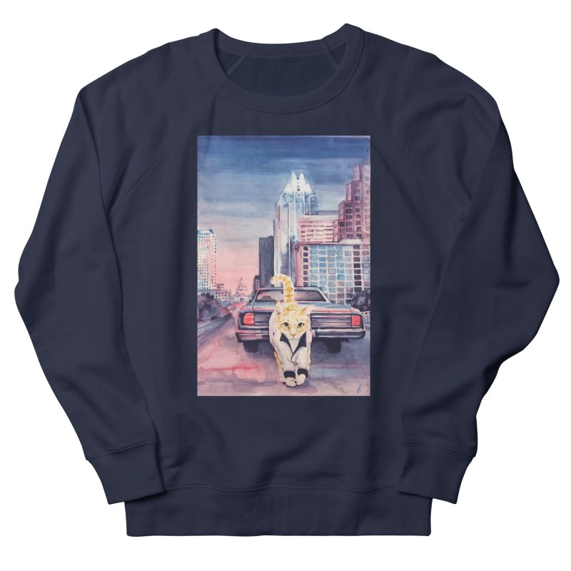 DRIVE (kitty) Women's French Terry Sweatshirt by jojostudio's Artist Shop
