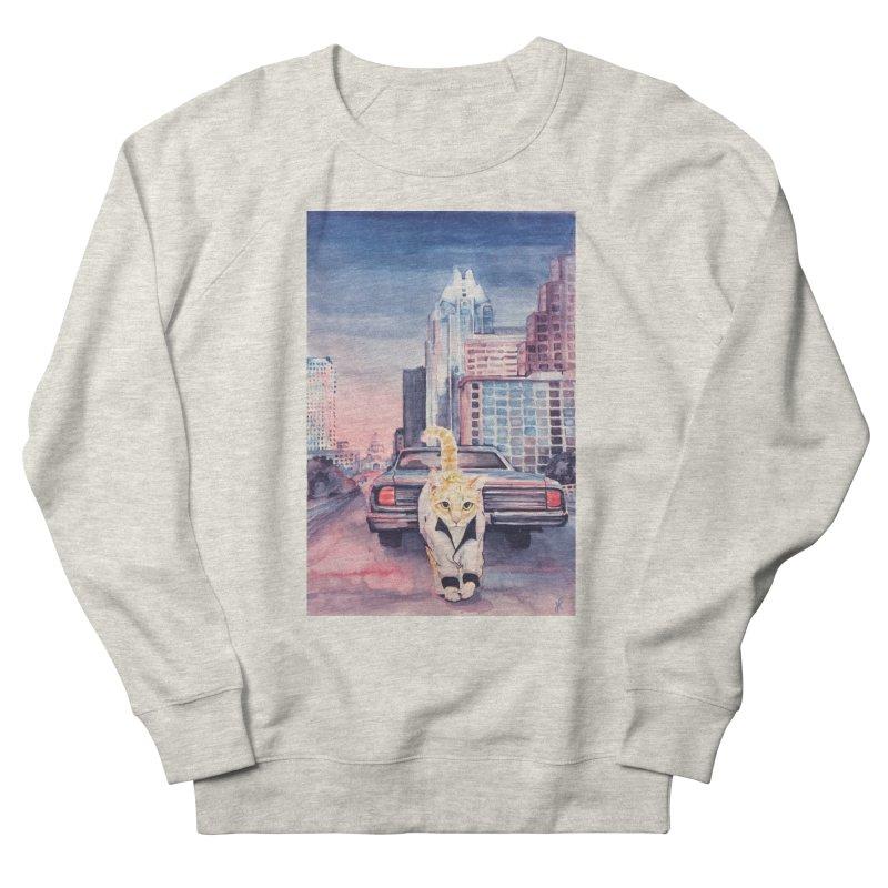 DRIVE (kitty) Men's French Terry Sweatshirt by jojostudio's Artist Shop