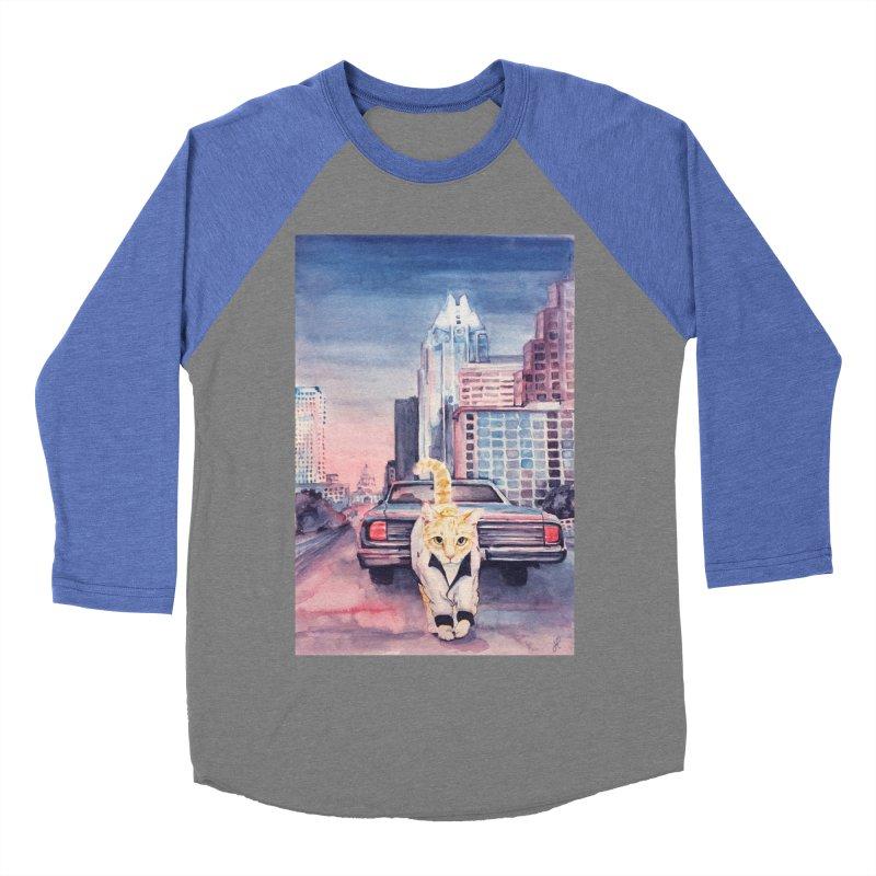 DRIVE (kitty) Women's Baseball Triblend Longsleeve T-Shirt by jojostudio's Artist Shop