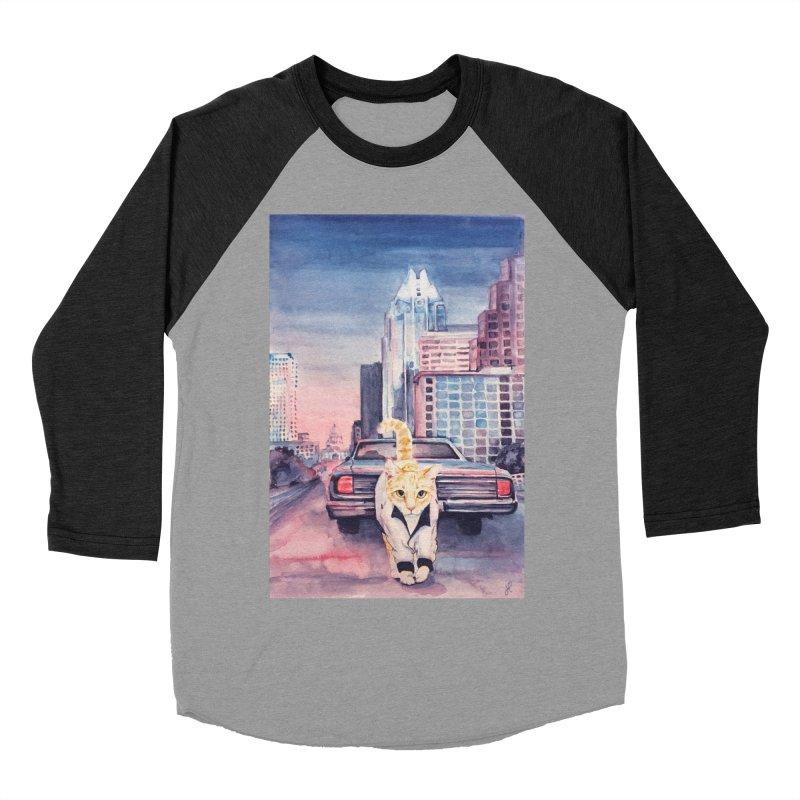 DRIVE (kitty) Women's Baseball Triblend T-Shirt by jojostudio's Artist Shop