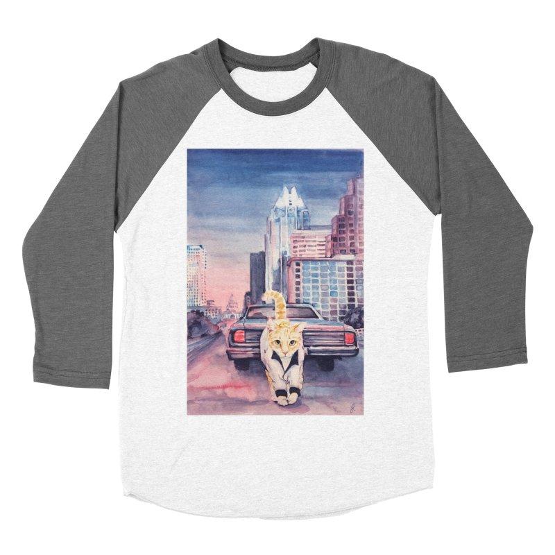DRIVE (kitty) Men's Baseball Triblend Longsleeve T-Shirt by jojostudio's Artist Shop
