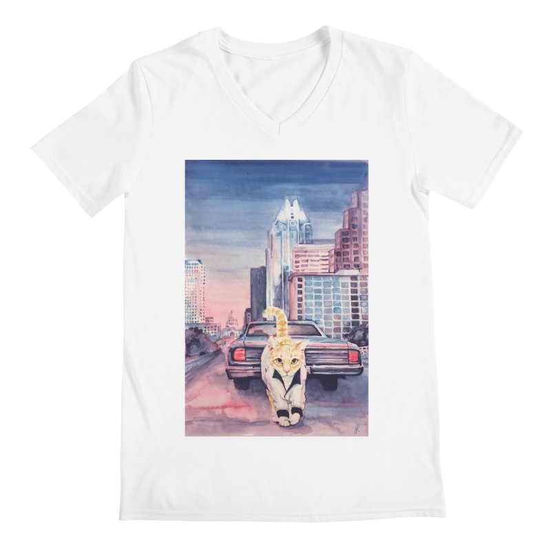 DRIVE (kitty) Men's Regular V-Neck by jojostudio's Artist Shop