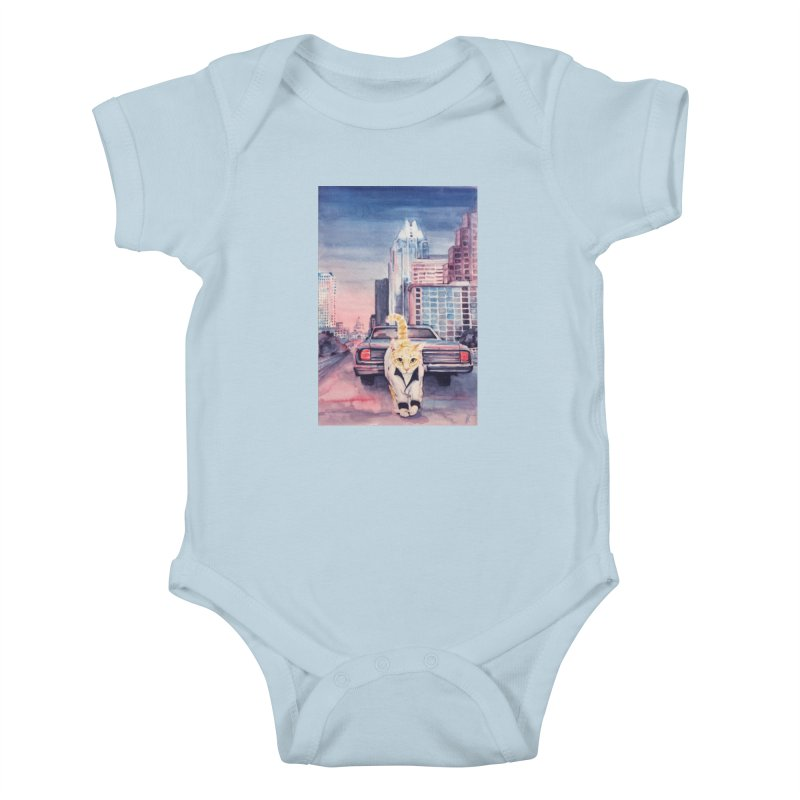 DRIVE (kitty) Kids Baby Bodysuit by jojostudio's Artist Shop