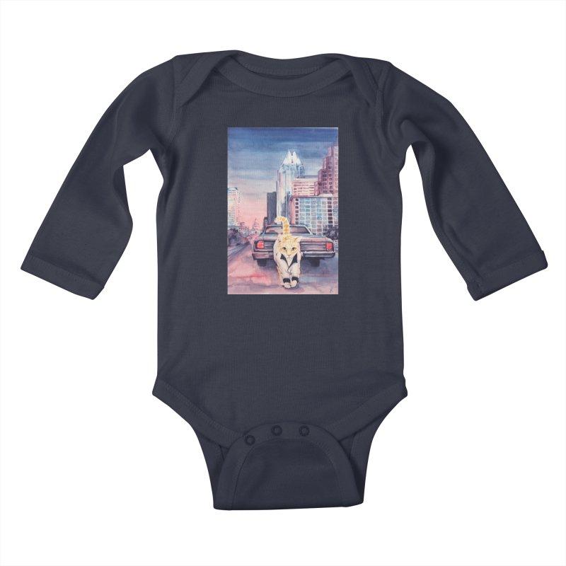 DRIVE (kitty) Kids Baby Longsleeve Bodysuit by jojostudio's Artist Shop