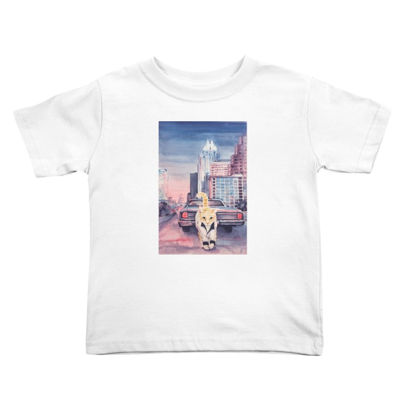 DRIVE (kitty) Kids Toddler T-Shirt by jojostudio's Artist Shop