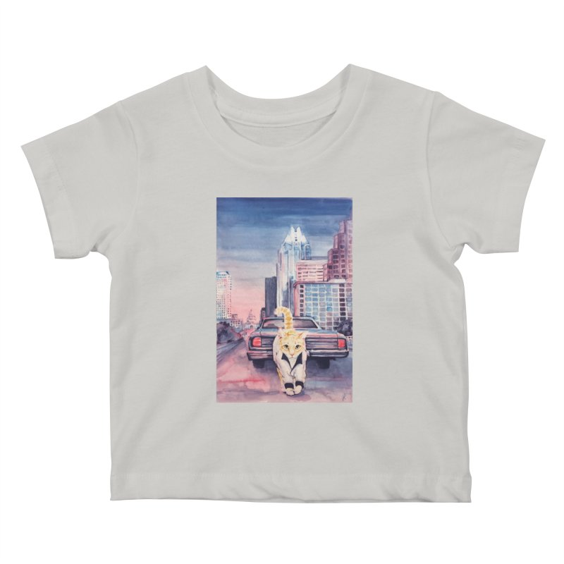 DRIVE (kitty) Kids Baby T-Shirt by jojostudio's Artist Shop
