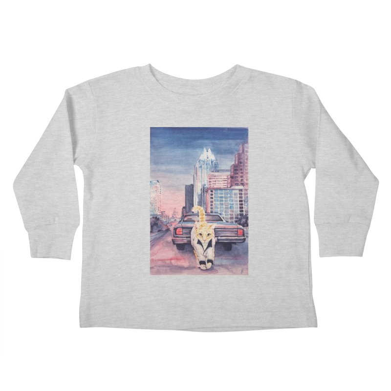 DRIVE (kitty) Kids Toddler Longsleeve T-Shirt by jojostudio's Artist Shop