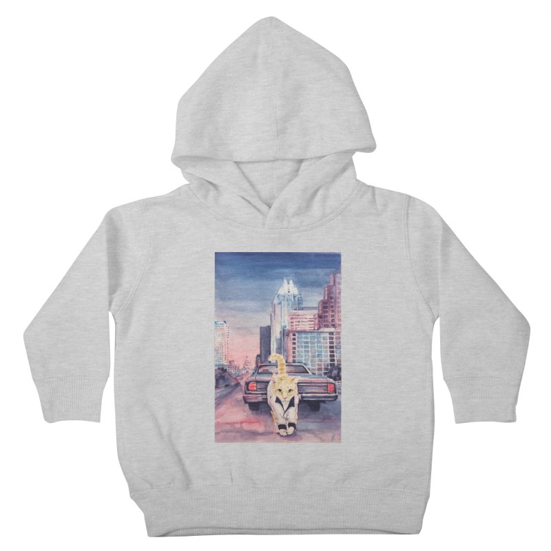 DRIVE (kitty) Kids Toddler Pullover Hoody by jojostudio's Artist Shop