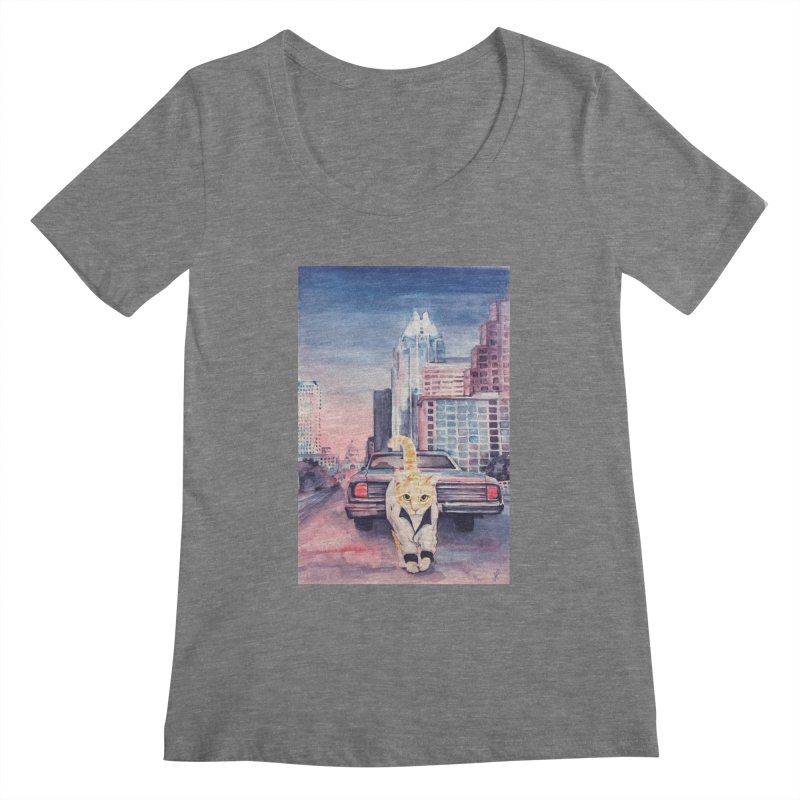 DRIVE (kitty) Women's Regular Scoop Neck by jojostudio's Artist Shop