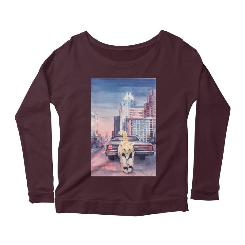 DRIVE (kitty) Women's Scoop Neck Longsleeve T-Shirt by jojostudio's Artist Shop