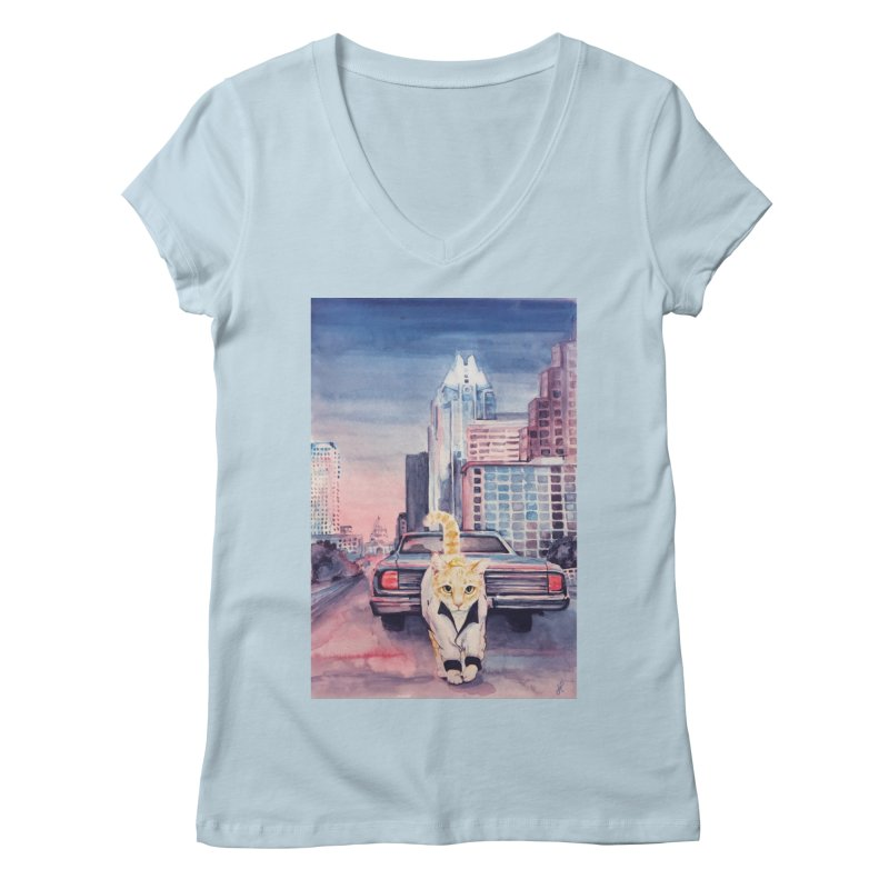 DRIVE (kitty) Women's V-Neck by jojostudio's Artist Shop