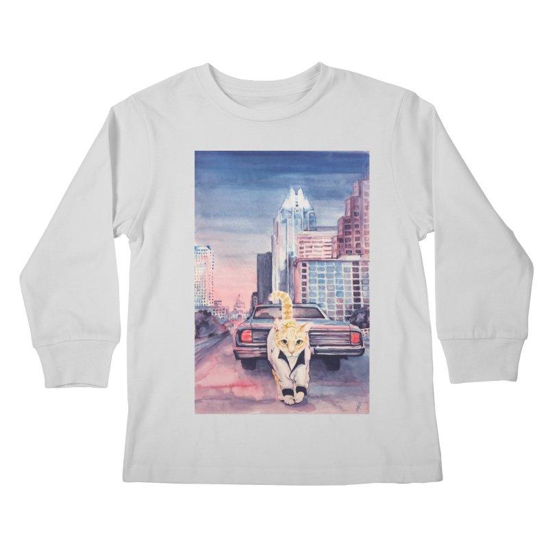 DRIVE (kitty) Kids Longsleeve T-Shirt by jojostudio's Artist Shop