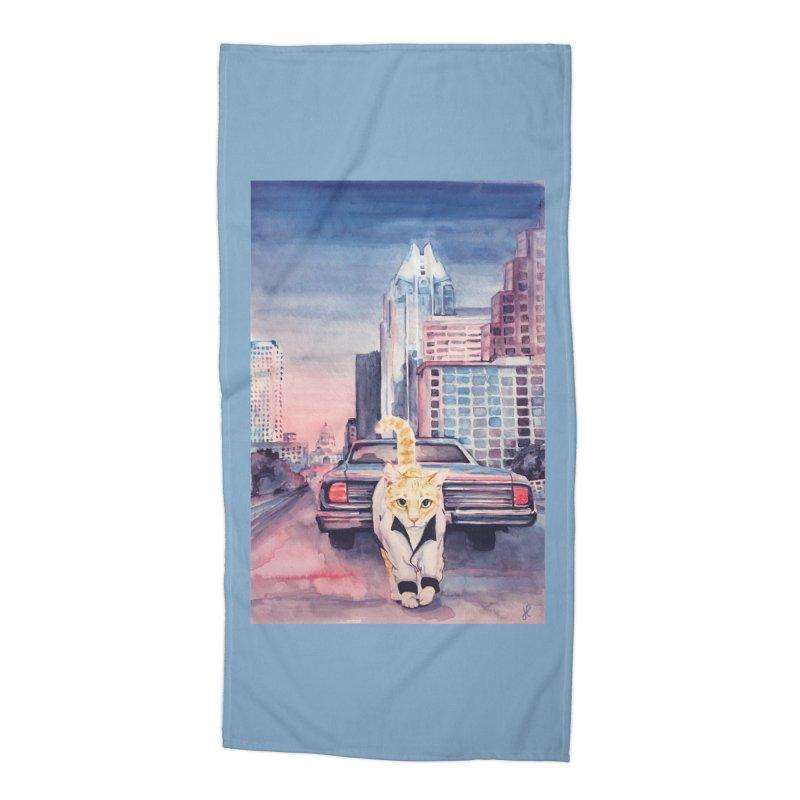 DRIVE (kitty) Accessories Beach Towel by jojostudio's Artist Shop