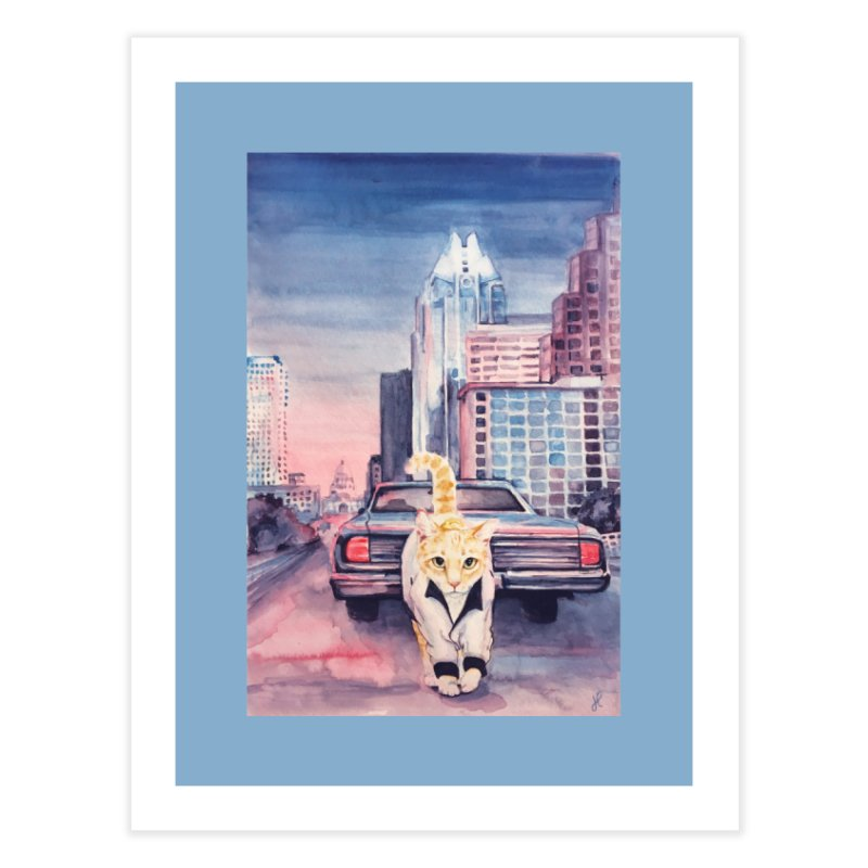 DRIVE (kitty) Home Fine Art Print by jojostudio's Artist Shop