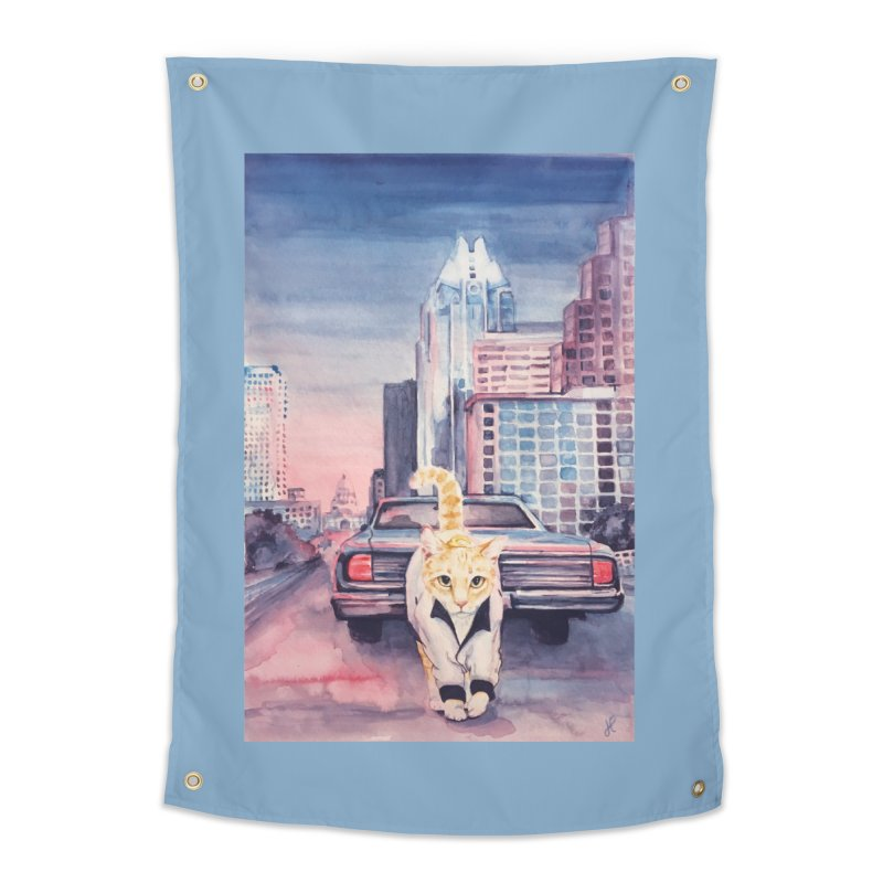 DRIVE (kitty) Home Tapestry by jojostudio's Artist Shop