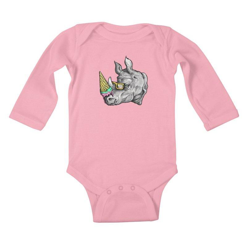 Sweet Savannah Kids Baby Longsleeve Bodysuit by jojostudio's Artist Shop