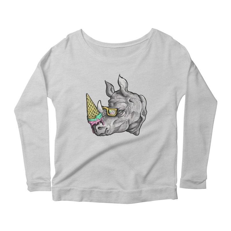 Sweet Savannah Women's Scoop Neck Longsleeve T-Shirt by jojostudio's Artist Shop
