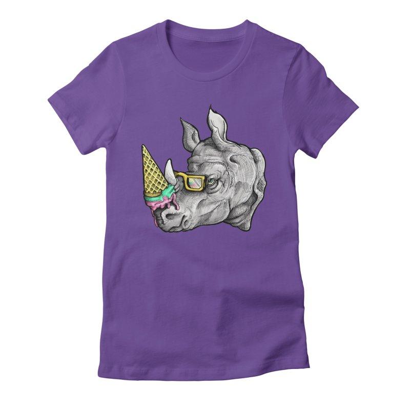 Sweet Savannah Women's Fitted T-Shirt by jojostudio's Artist Shop