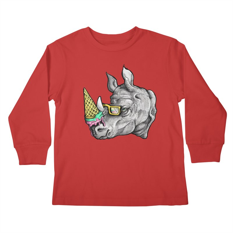 Sweet Savannah Kids Longsleeve T-Shirt by jojostudio's Artist Shop