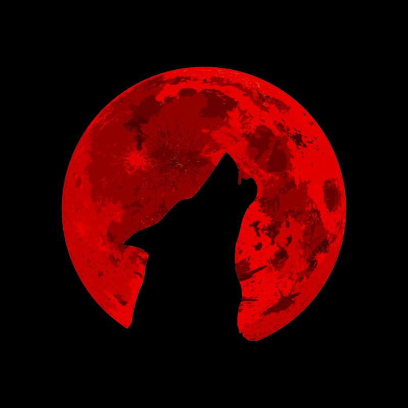Howling Wolf Blood Moon Women's Pullover Hoody by jokertoons's Artist Shop