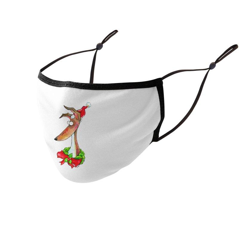 Christmas Hound Accessories Face Mask by jokertoons's Artist Shop