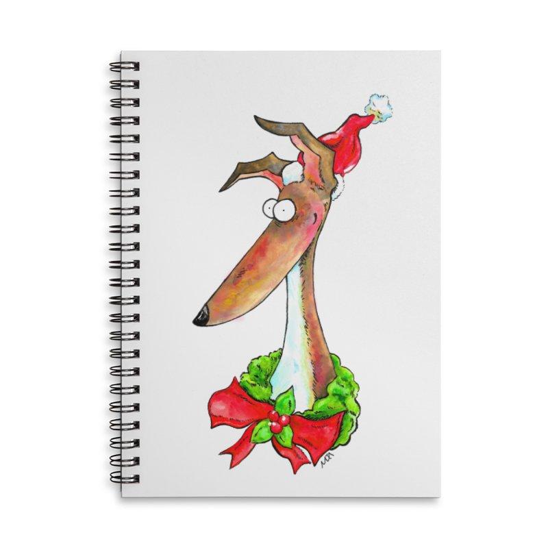 Christmas Hound Accessories Notebook by jokertoons's Artist Shop