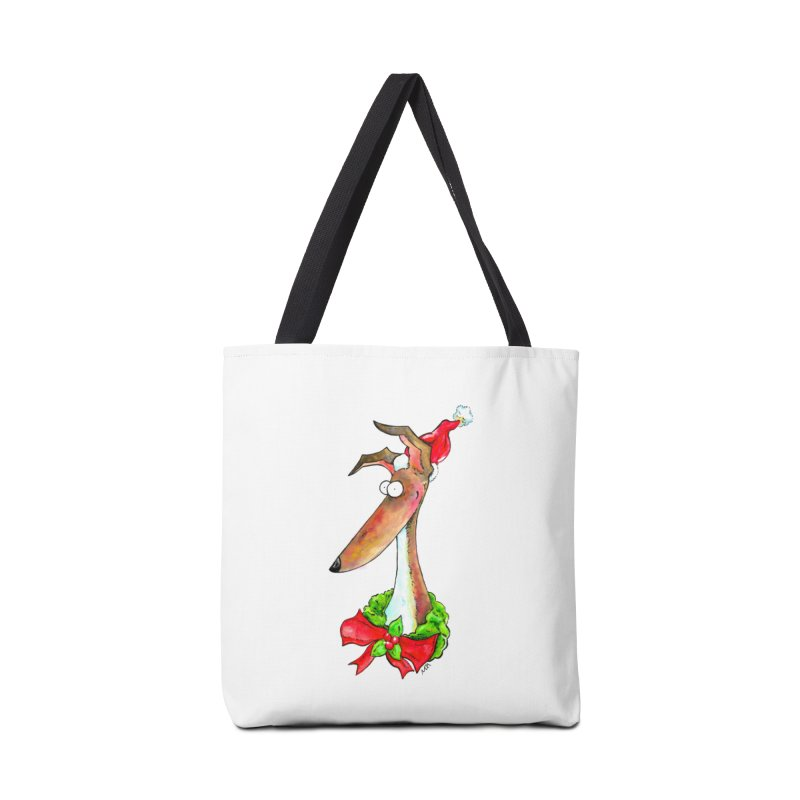 Christmas Hound Accessories Bag by jokertoons's Artist Shop