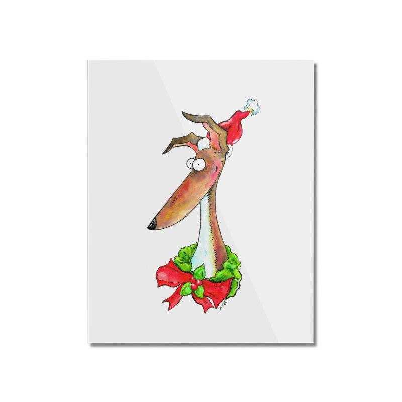 Christmas Hound Home Mounted Acrylic Print by jokertoons's Artist Shop