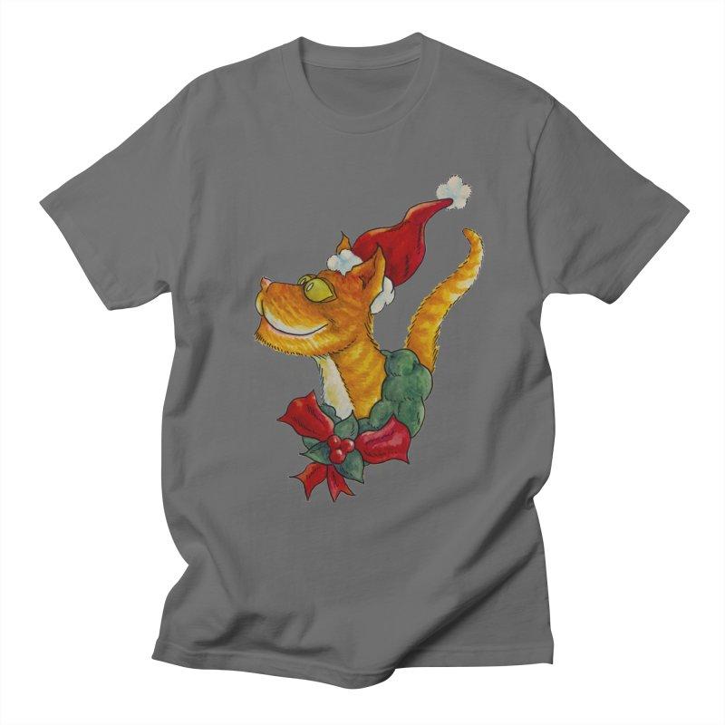 Christmas Cat Men's T-Shirt by jokertoons's Artist Shop