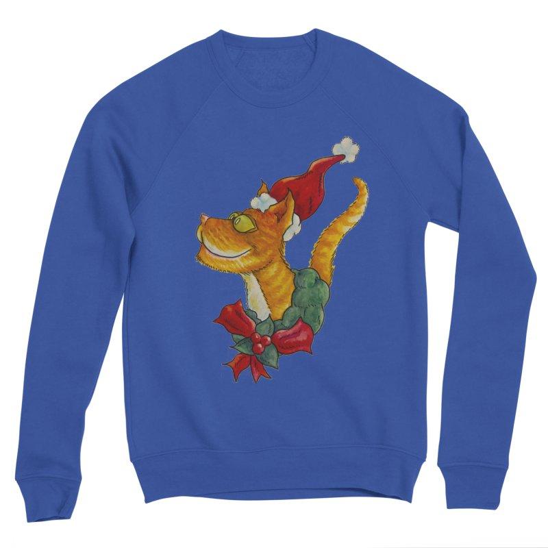 Christmas Cat Men's Sweatshirt by jokertoons's Artist Shop