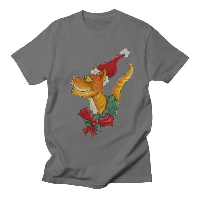 Christmas Cat Women's T-Shirt by jokertoons's Artist Shop