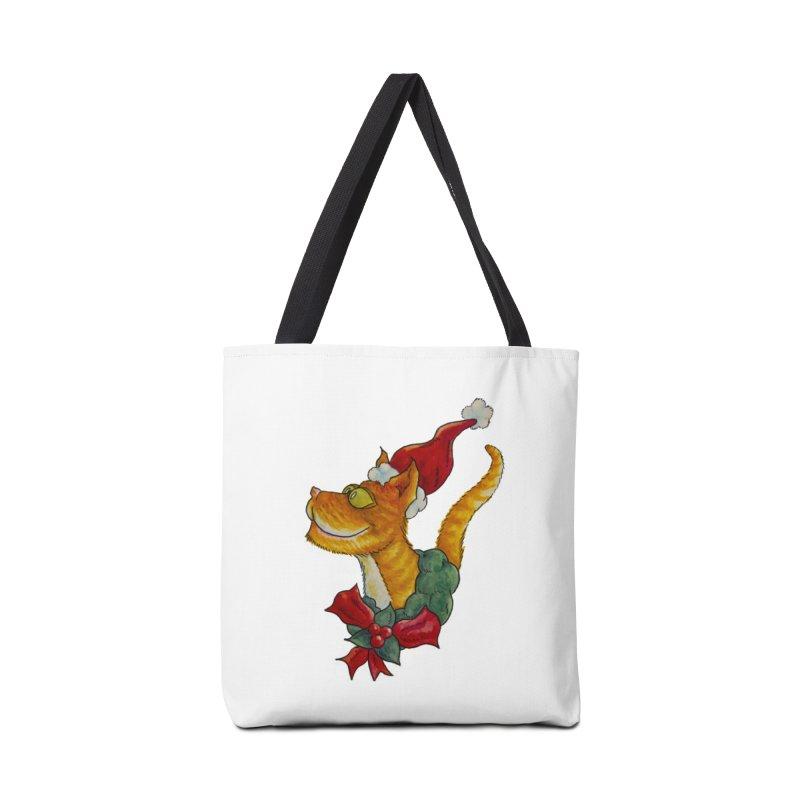 Christmas Cat Accessories Bag by jokertoons's Artist Shop