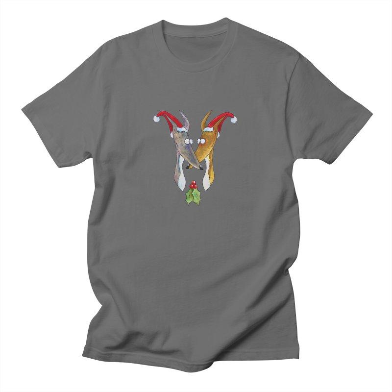 Christmas Love Hounds Men's T-Shirt by jokertoons's Artist Shop