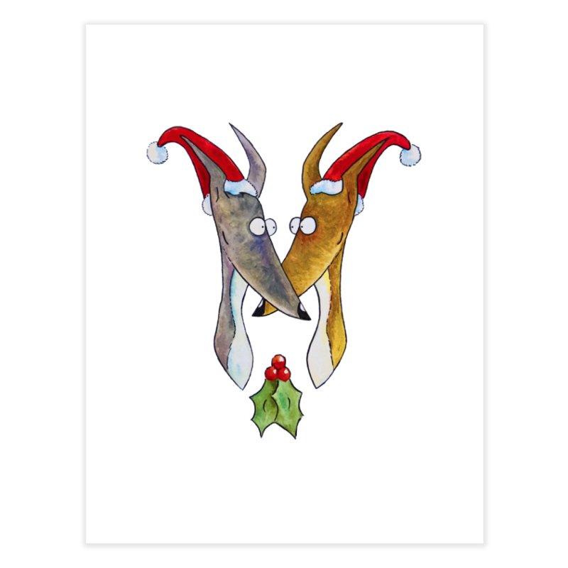 Christmas Love Hounds Home Fine Art Print by jokertoons's Artist Shop